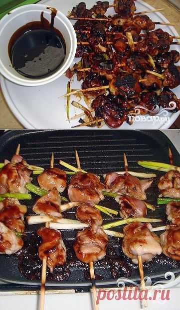 Рецепт приготовления японской закуски из обжаренных кусочков куриного мяса.