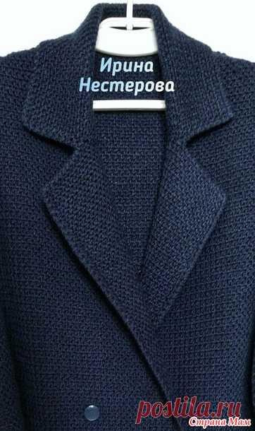 . Стильный двубортный жакет - пиджак крючком - Страна Мам