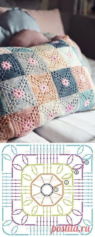 Мотив для симпатичного чехла на подушку