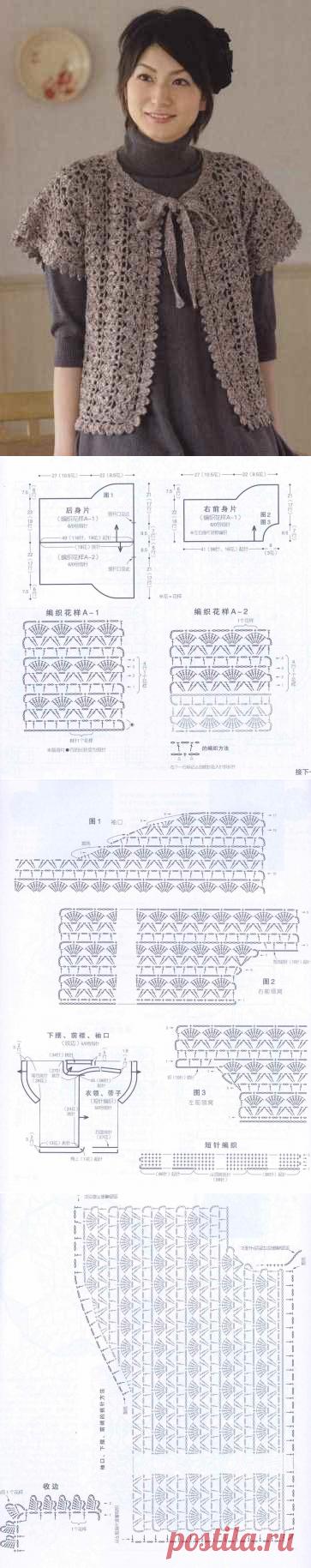 1876 - жакети, блейзери, кардігани - В'язання для жінок - Каталог статей - Md.Crochet