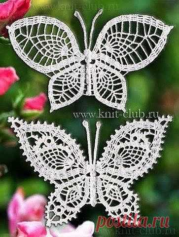 Красивые бабочки крючком  ИДЕИ ДЛЯ ВДОХНОВЕНИЯ!!!