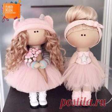 Выкройка кукол. Шьём текстильных куколок.