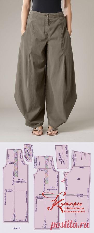 """Крой и шитьё брюк """"бохо"""" своими руками в домашних условиях"""