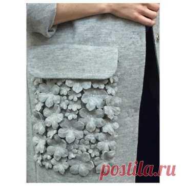 Карманные цветы Модная одежда и дизайн интерьера своими руками
