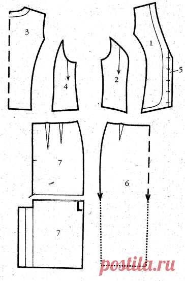 Выкройка юбки прямого покроя » Бесплатные выкройки одежды, шьем своими руками платья, блузки, пальто, костюмы, сарафаны