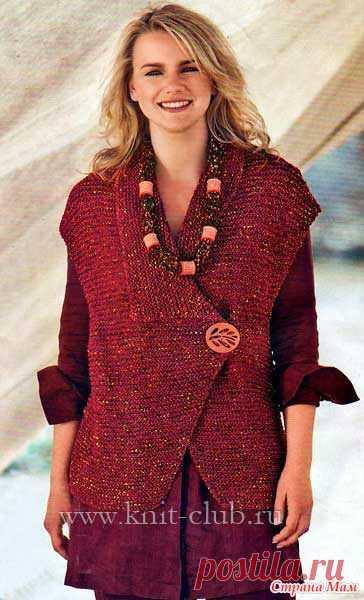 оригинальный жилет для полных женщин вязание для полных постила