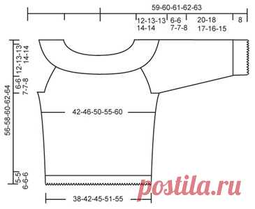 Схема вязания Воздушный пуловер DROPS 88-23