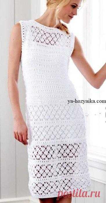 вязаное белое платье крючком белое вязание платье крючком схемы