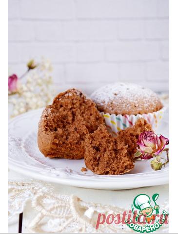 Шоколадные маффины с пудингом - кулинарный рецепт