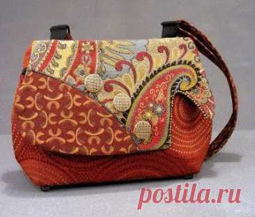 Интересные сумки в стиле пэчворк. Подборка для вдохновения