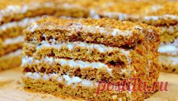Торт Медовик, який тане в роті, Простий рецепт дуже смачного тортика з яскравим медовим ароматом - Прості Рецепти Простий рецепт дуже смачного тортика із яскравим медовим ароматом.Крем ви можете зробити будь-який на свій смак, не обов'язково такий, як у мене.Але зі