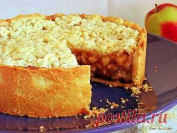 """Австралийский яблочный пирог """"Счастье есть"""""""