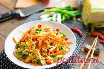 Пару рецептов вкусных лёгких салатиков из пекинской капусты