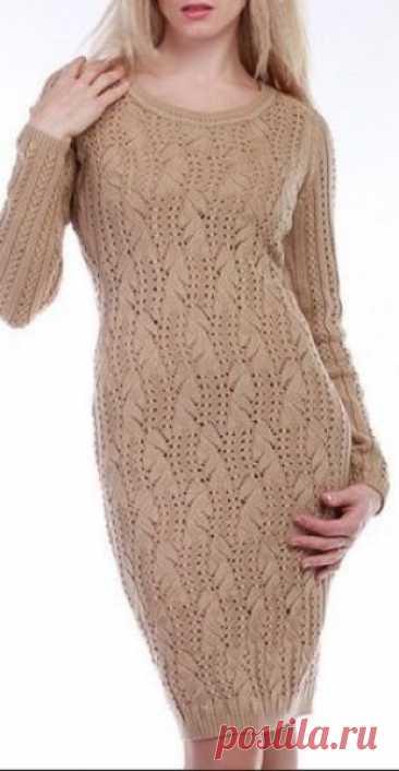 Узор для вязания платья спицами