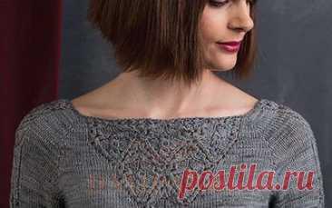 Вязаный женский пуловер «Victoria» | DAMские PALьчики. ru