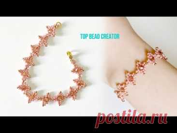 DIY beaded bracelet, How to make beaded jewelry, Bicone and seed beads