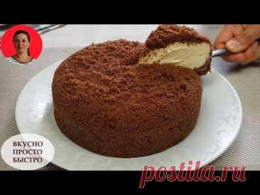 БЕЗ ДУХОВКИ ✧ Райский Торт со Сметанным Кремом ✧ Так Просто и Так Вкусно ✧  SUBTITLES