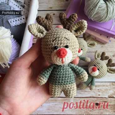 Вязаный олененок / Вязание игрушек / ProHobby.su   Вязание игрушек спицами и крючком для начинающих, мастер классы, схемы вязания