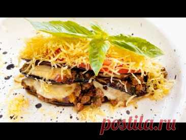Musaka with eggplants in Greek