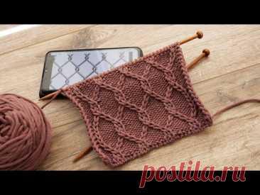 Узор «Сетка Рабица» спицами ╳  «Rabitz Grid» knitting pattern