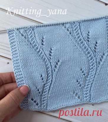 Узор 20. Блог knitting_yana  Источник: https://www.instagram.com/p/CQTSTwhhsf0/  Очень красивый узор, подойдёт для летних маек, топов, юбок, платьев схема дальше, листайте  Ставьте  и сохраняйте себе в закладки