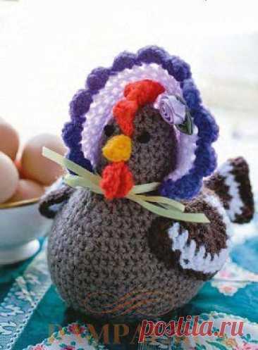 (+2) Пасхальная курочка (вязание крючком)