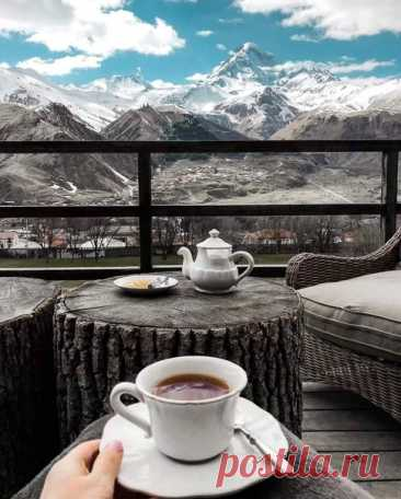 Утро с видом на Казбек, Грузия
