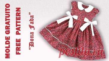 Красивое платье для девочек. Выкройка на р.1-6лет + видео МК. ---------------------------------------- Ставьте лайки и сохраняйте себе. Буду очень благодарна за комментарии.  #выкройки #мастер_класс #шитье #для_девочек #платье