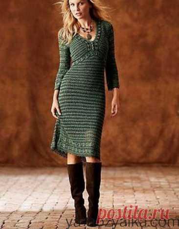 Платья крючком от карен миллен. Вязание крючком платья с подиума схемы