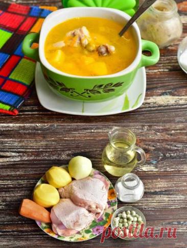 Суп с мясом и зеленым горошком   Вкусные кулинарные рецепты