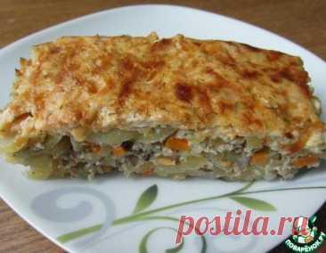 Мясная запеканка с тертым картофелем – кулинарный рецепт
