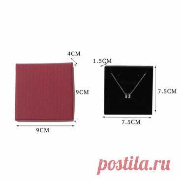 22р+ 86 дост--Квадратная картонная упаковка, органайзер для хранения ювелирных изделий, чехол для ожерелья, браслета, колец, прочная Подарочная коробка, оптовая продажа, новая мода 2021 | Украшения и аксессуары | АлиЭкспресс
