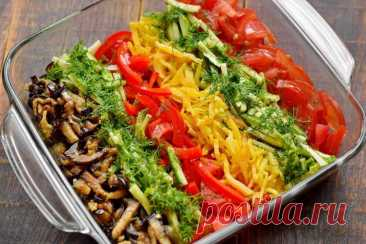 Летний овощной салат с баклажанами Вкусный овощной салат с интересной подачей. Все компоненты подготавливаются отдельно, после выкладываются в одной емкости отдельными полосками. Для этого используются овощи разных цветов и разных … Читай дальше на сайте. Жми подробнее ➡