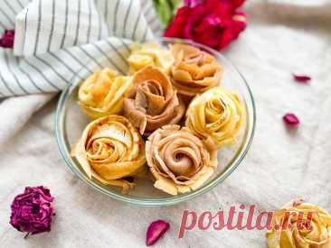 Когда я поставила эти блины на стол, гости ахнули! (показываю, как сделать розы из блинов) | Сладкий Персик 🍑 | Яндекс Дзен