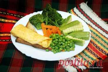 Овощи на пару приготовленные в пароварке