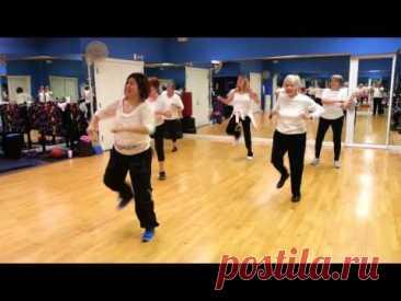 Зумба для людей старшего возраста, для тех кто никогда не занимался физической нагрузкой. Видео уроки для похудения и хорошего настроения. Часть1.