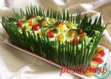 Snack Napoleon cake with red fish the Culinary recipe
