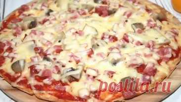 #Самая #вкусная #пицца #на #сковороде. #Идеальное #тесто