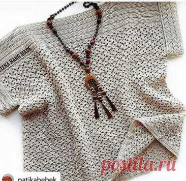 #вязаная_блуза@modnoe.vyazanie\u000aLa blusa. El esquema.