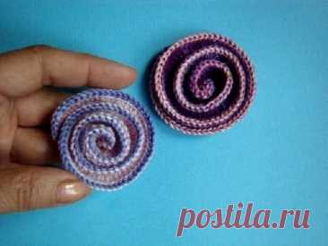 Вязание крючком - Цветок Урок 45 Сrochet flower tutorial