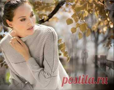 Бежевый пуловер покроя «кимоно» - Lilia Vignan