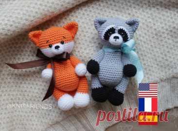 2 in 1: crochet pattern Raccoon Crochet pattern Fox Easy | Etsy
