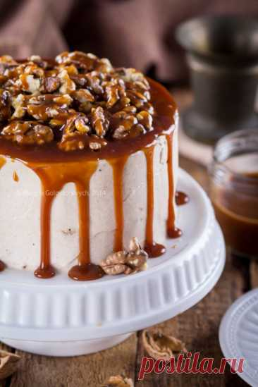 Тыквенный торт с грецкими орехами и соленой карамелью - Любопытный повар — LiveJournal