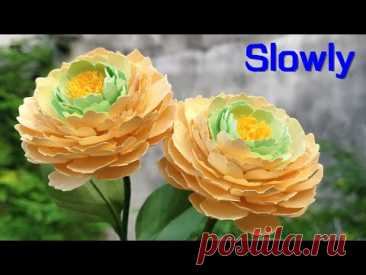 ABC TV | How To Make Paper Flower #7 | Flower Die Cuts (Slowly) - Craft Tutorial