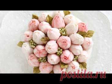[ENG]Tulip blossom flower cake 튤립 블로섬 플라워케이크