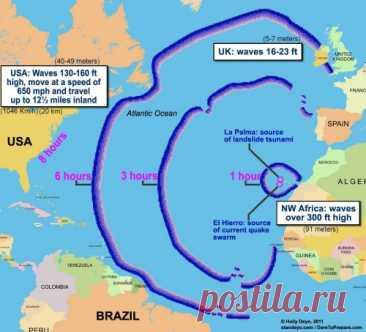На Ла Пальма приближается час истины: лава уже в километре от моря.