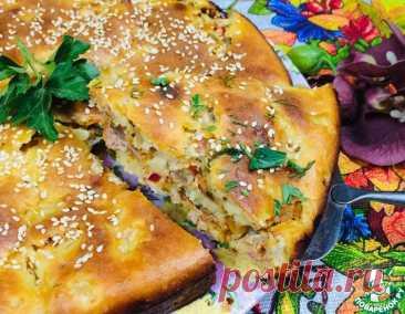 Пирог с фаршем для быстрого ужина – кулинарный рецепт