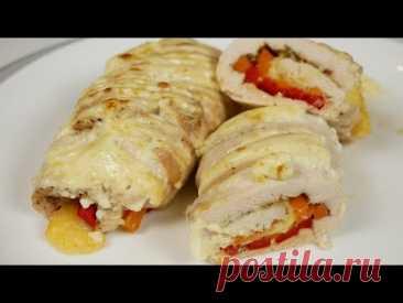 """Новогодние куриные РУЛЕТИКИ - """"Пальчики оближешь"""", цыганка готовит.Gipsy cuisine."""