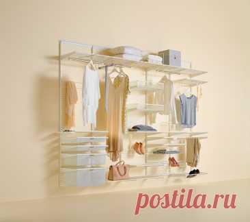 Каталог Elfa - системы хранения для гардеробных, кладовых, прихожих, детских комнат
