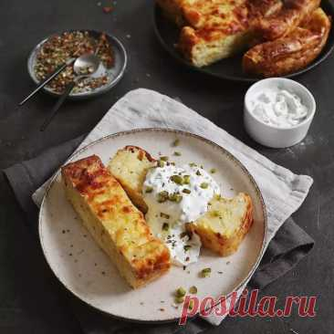 Сырная запеканка с кабачком